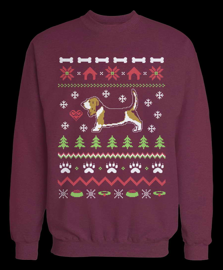 Basset Hound Christmas Sweater Pets And Dogs