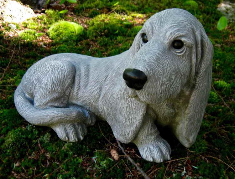 Basset Hound Statue Garden Statue