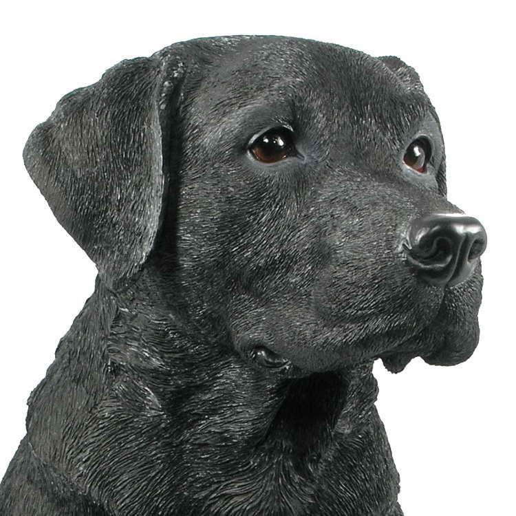 Black Labrador Garden Statue