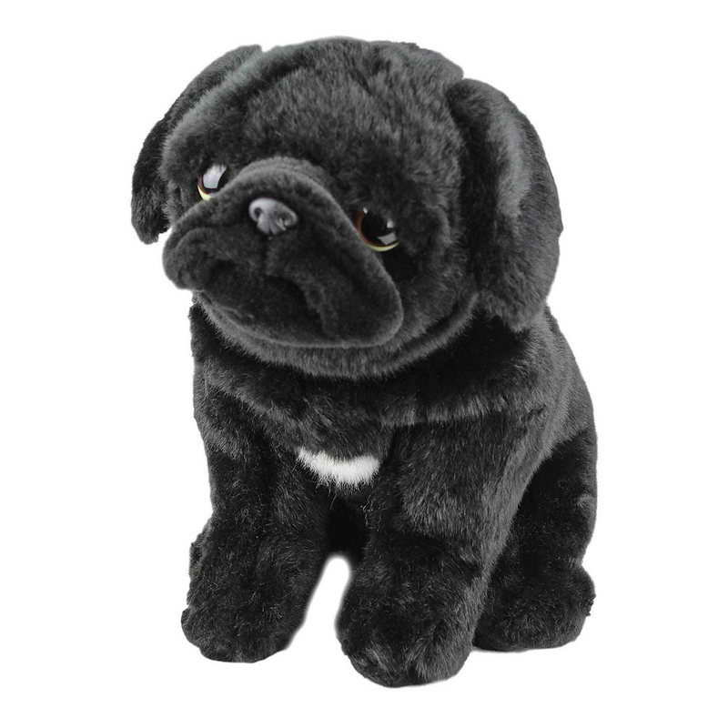 black pug stuffed animal black pug stuffed animal pets and dogs 4321