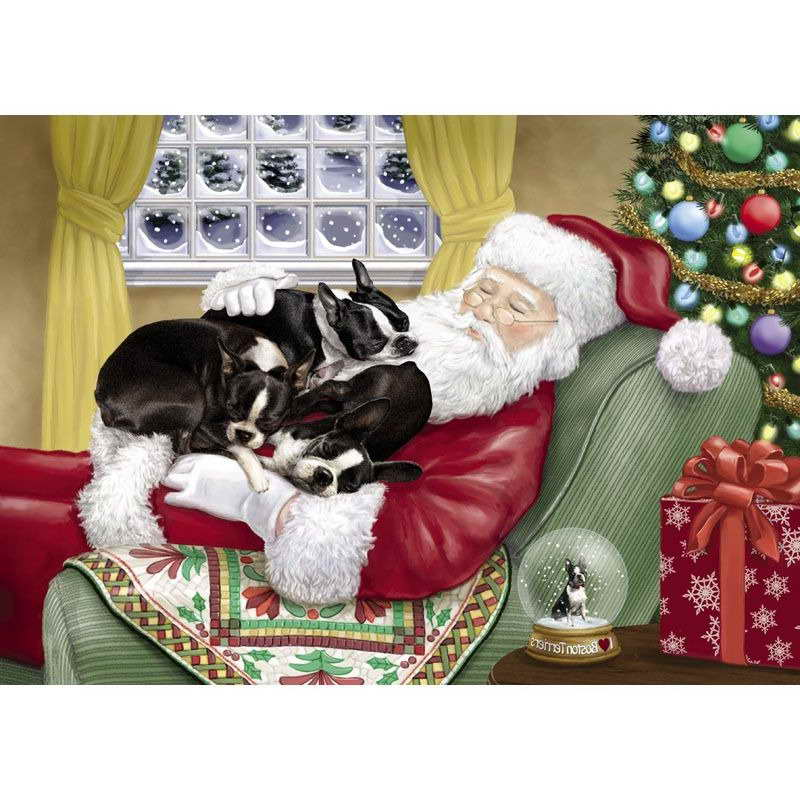 Boston Terrier Christmas Card | Pets and Dogs