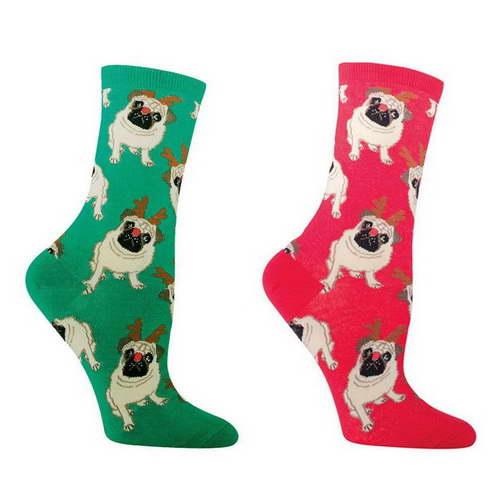 Christmas Pug Socks