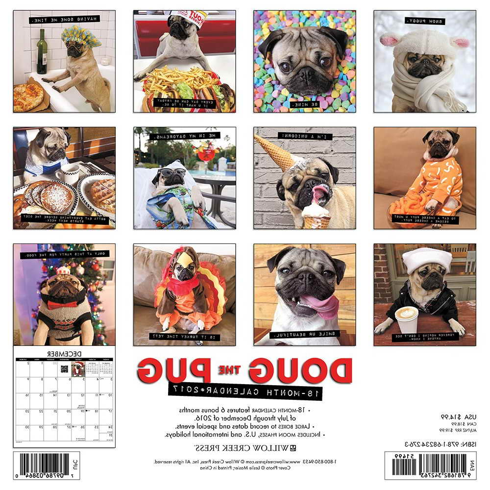 doug the pug calendar 2017 doug the pug calendar 2017 pets and dogs 8896