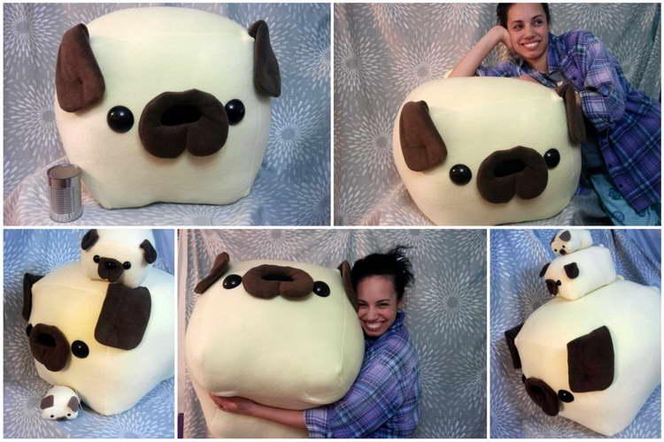 Huge Pug Stuffed Animal