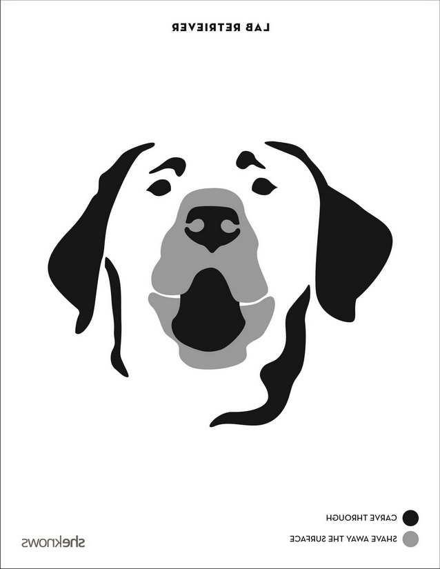Labrador Pumpkin Stencil